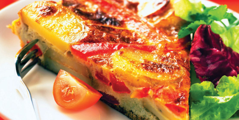 Red Pepper & Potato Frittata
